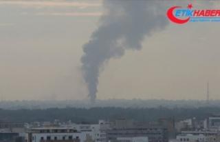 Libya'da Hafter milislerinden başkentin merkezindeki...