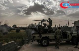 Libya Ordusu Hafter milislerinin işgalindeki Vatiyye...