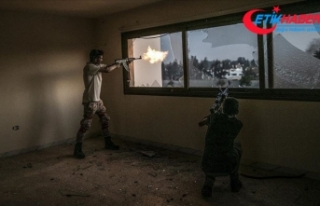 Libya ordusundan Trablus'un güneyindeki Hafter...