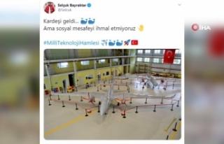 Selçuk Bayraktar'dan hava aracı paylaşımı