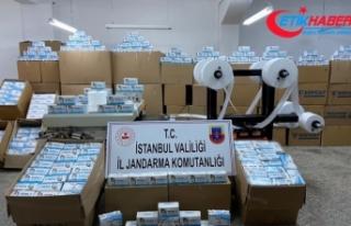 Sultangazi'de izinsiz üretilen 800 bin adet maske...