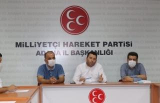 Adana'da MHP'den Zeydan Karalar'a tepki:...