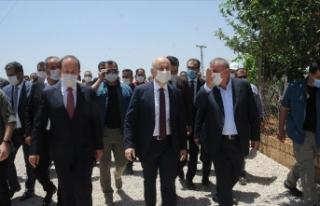Bakan Karaismailoğlu Cizre'de incelemelerde...