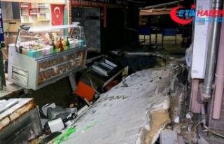 Beşiktaş'ta yolun çökmesi sonucu bir kişi...