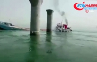 İran'a ait yük gemisi Irak karasularında battı:...