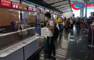 İstanbul havalimanlarında yurt dışı uçuşları...