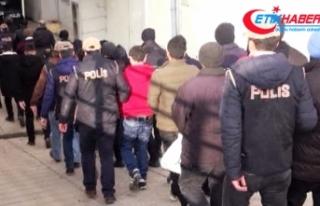 İzmir'de dev suç örgütü operasyonu: 94 gözaltı