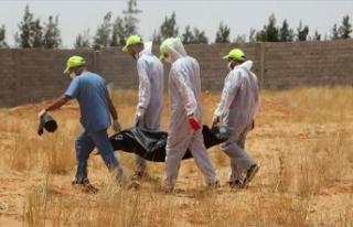 Libya'nın Terhune kentindeki bir arazide toplu...
