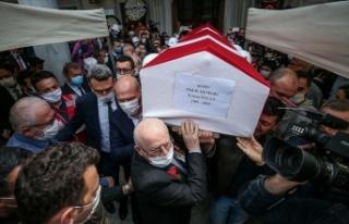 Şehit polis memuru Erman Özcan son yolculuğuna...