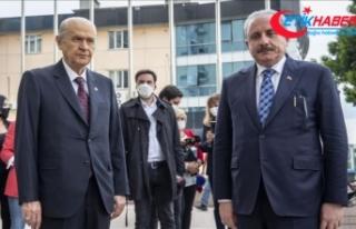 TBMM Başkanı Şentop, MHP Genel Başkanı Bahçeli'yi...