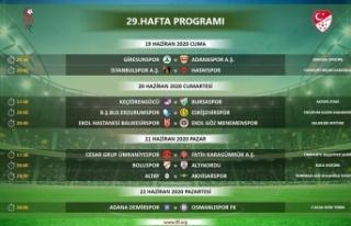 TFF 1. Lig'de 29, 30, 31 ve 32. hafta programları...