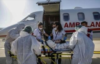 Türkmenistan'da yaşayan çocuk hasta ambulans...