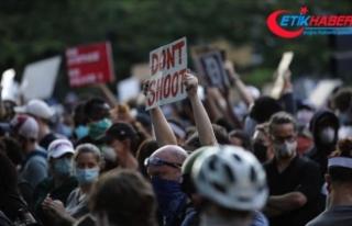 Washington'daki George Floyd protestoları önceki...