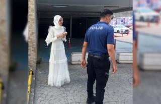 Zorla evlendirilmek istenen kız nikah salonuna polis...