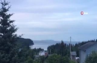 Alaska'nın Kodiak şehrinde deprem sonrası siren...