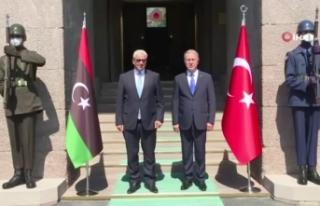 Bakan Akar, Libya İçişleri Bakanı Başağa ile...