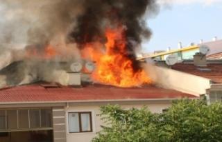 Başkent'te yangın sırasında patlayan tüp...