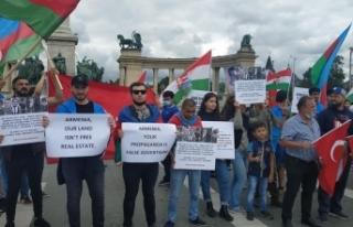 Budapeşte'de Ermenistan'ın saldırıları protesto...
