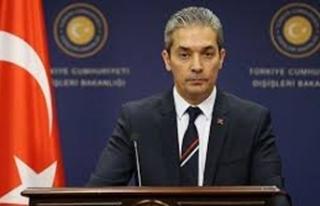 Dışişleri Bakanlığı Sözcüsü Aksoy'dan AB'ye:...