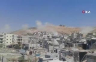 Rus savaş uçakları İdlib çevresindeki köylere...