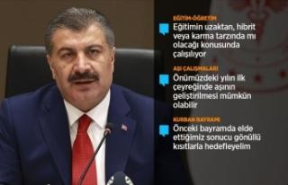 Sağlık Bakanı Koca: Kurban Bayramı hep birlikte...