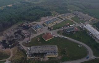Sakarya'da patlama olan havai fişek fabrikasındaki...