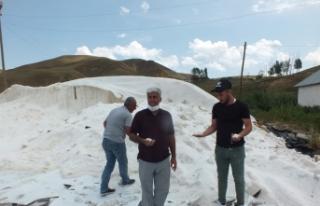 Şiddetli yağış ve dolu tuz üreticileriyle kavun...