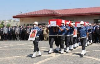 Siirt'te şehit olan 2 özel harekat polisi memleketlerine...