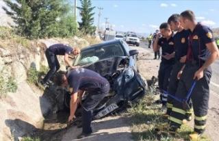 Sinop Valisi Karaömeroğlu trafik kazası geçirdi