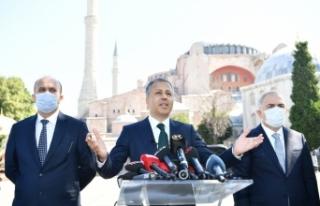 Vali Yerlikaya duyurdu: Ayasofya Camii çevresinde...