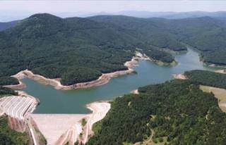 Akçay Barajı'nda su seviyesi maksimum düzeye...