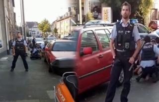 Alman polisinden Türk gence George Floyd şiddeti