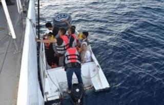 Ayvalık açıklarında 12 sığınmacı yakalandı