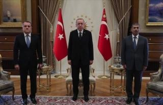 Cumhurbaşkanı Erdoğan Azerbaycan Dışişleri Bakanı...