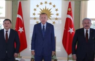 Cumhurbaşkanı Erdoğan, Kırgızistan Meclis Başkanı...
