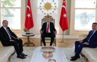 Cumhurbaşkanı Erdoğan KKTC Başbakanı Tatar'ı...