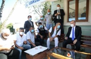 Cumhurbaşkanı Erdoğan'dan taksi durağına ziyaret