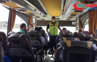 İstanbul İl Jandarma Komutanlığı ekipleri otobüs...