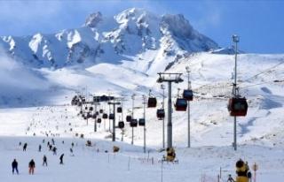 Kış turizmi merkezlerinden Erciyes'te jeotermal...