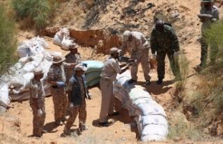Libya'da Hafter milislerinin tuzakladığı mayınlar...