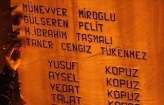 Marmara depreminde yaşamını yitirenler törenle...