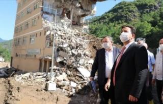 MEB afet bölgesindeki binaları eğitime hazırlamak...