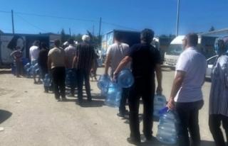 Modern şehir Eskişehir'de su kuyruğu bitmiyor
