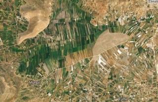 NASA Antalya dağlarındaki tarım arazilerinin fotoğrafını...