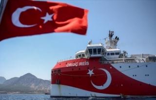 Oruç Reis sismik araştırma gemisinin Doğu Akdeniz'deki...