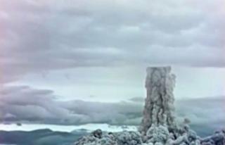 Rusya, 1961'de atılan nükleer bombanın görüntülerini...