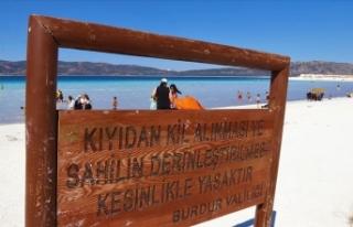 Salda Gölü'nden kil alanlara 392 lira ceza...