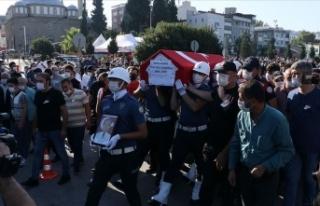 Şehit polis Adem Keskin Samsun'da son yolculuğuna...