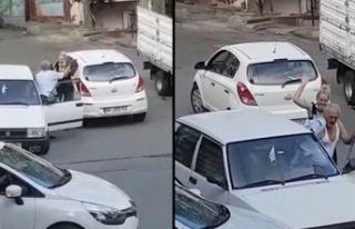 Trafikte yol verme kavgasında önce tokat attı sonra...