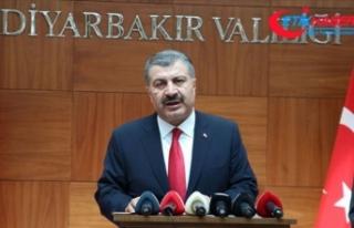 Bakan Koca: Diyarbakır'da Kovid-19 vakalarında...